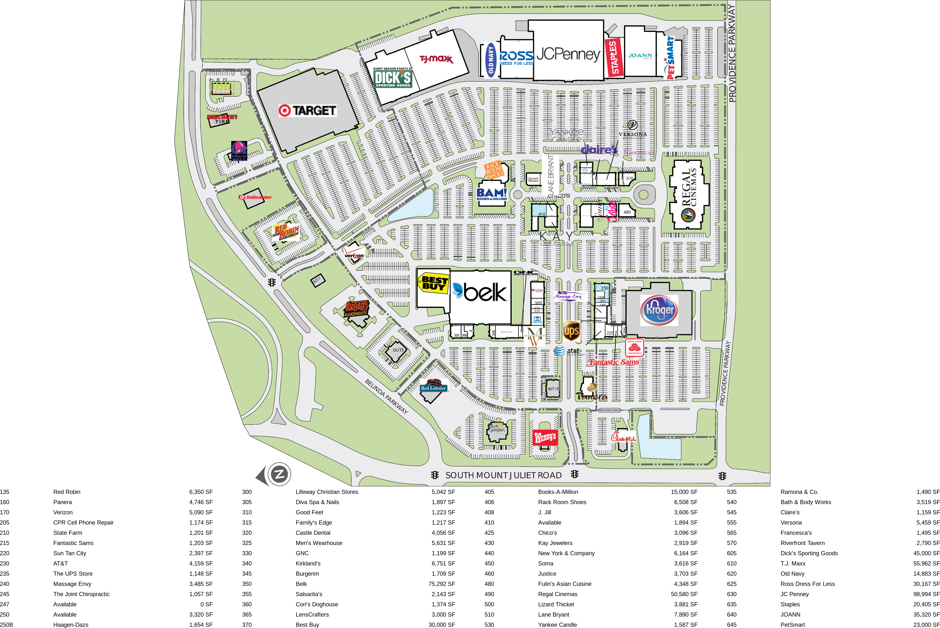 Mount Juliet TN: Providence Marketplace - Retail Space For Lease ...